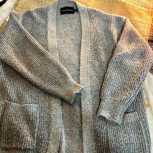 Calvin Klein gray cardigan